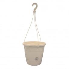 Подвесная корзина с подвесом Ondine 26,4*23,5 см, 6 л + поддон 2 л, песок