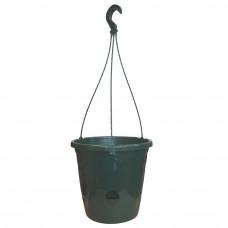 Подвесная корзина с подвесом Ondine 26,4*23,5 см, 6 л + поддон 2 л, зеленая сосна