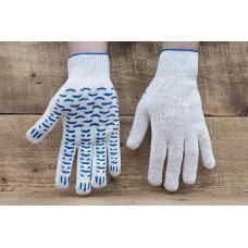 Перчатки ХБ с ПВХ 10 класс 4 нитка Волна