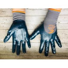 Перчатки нейлоновые с глубокой нитриловой обливкой. Пр-во Италия.