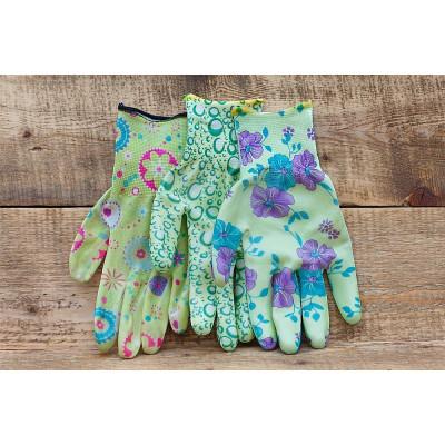 Садовые нейлоновые перчатки с латексным покрытием.